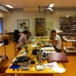 Kjell and Erik working with the ceramics